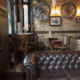 Leather Sofas at The Old Ivy House London
